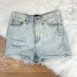 UO BDG Girlfriend High Rise Acid Wash Jean Shorts